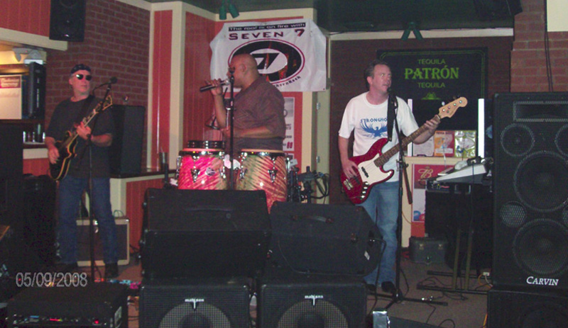 Seven 7 Athens Band performing live in Conyers Georgia at DC Martinique