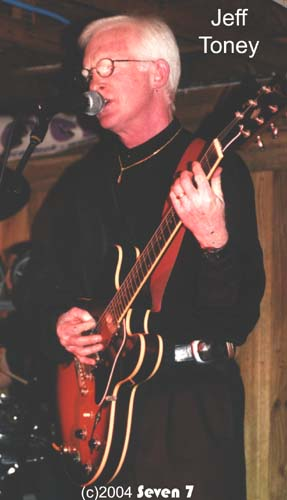 Dance band Guitarist Jeff Toney playing live December 2004 at The southern Stagejeff12-04ss